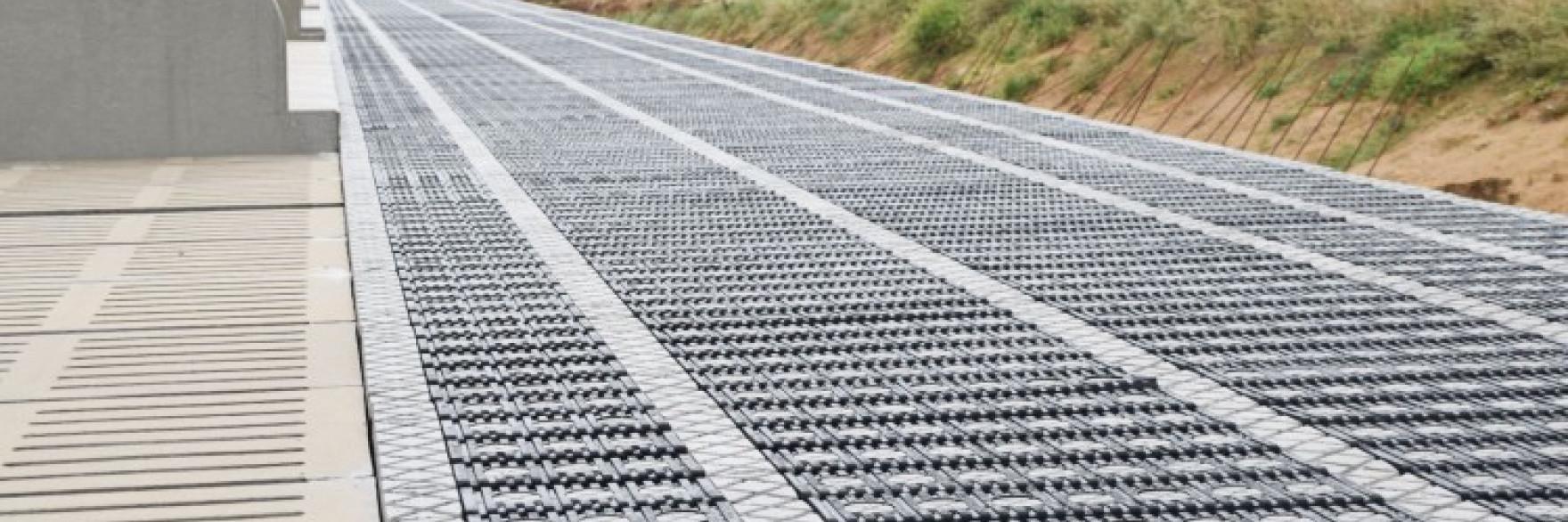 Element beton en rubber