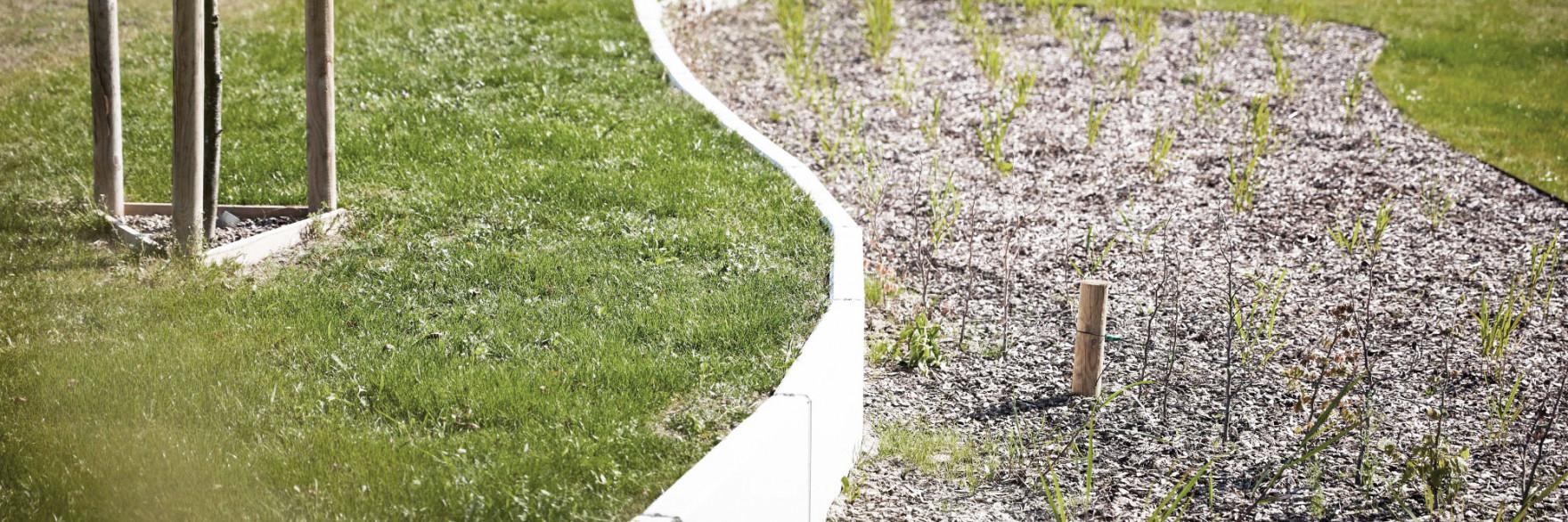 Prefab beton tuinaanleg