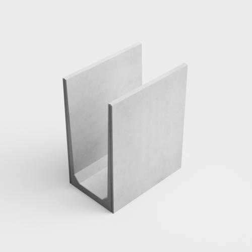 U-shaped retaining walls