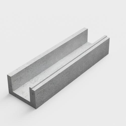 U-shaped gutters